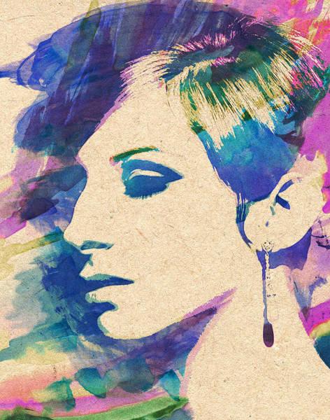 Wall Art - Painting - Barbra Streisand by Zapista Zapista