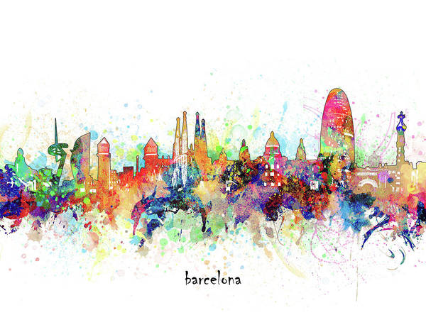 Wall Art - Digital Art - Barcelona Artistic by Bekim M