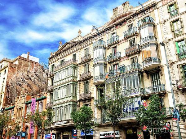 Photograph - Barcelona Building Style In Spain by John Rizzuto