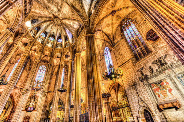 Wall Art - Photograph - Barcelona Cathedral Architecture  by David Pyatt