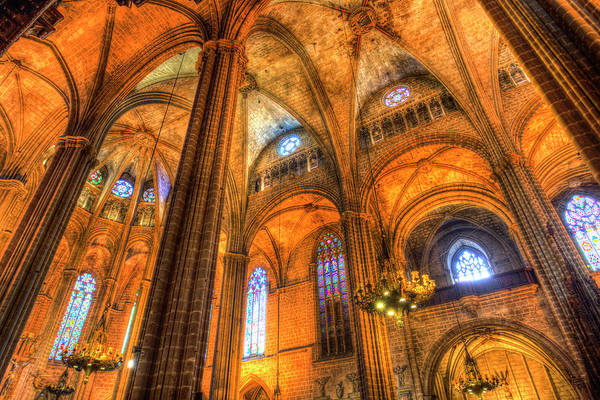 Wall Art - Photograph - Barcelona Cathedral Atmosphere  by David Pyatt