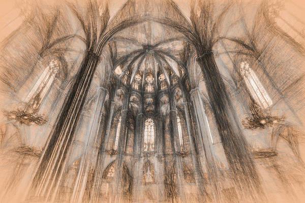 Wall Art - Photograph - Barcelona Cathedral Da Vinci Art  by David Pyatt