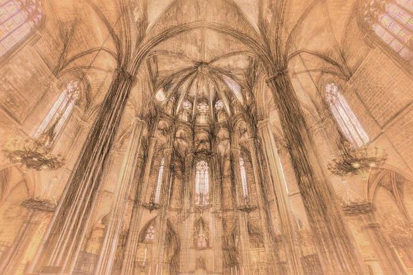 Wall Art - Photograph - Barcelona Cathedral Da Vinci  by David Pyatt