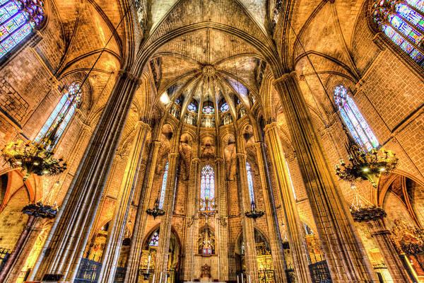 Wall Art - Photograph - Barcelona Cathedral by David Pyatt