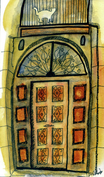 Painting - Barcelona Door by Judy Robinson