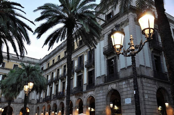 Wall Art - Photograph - Barcelona, Placa Reial by Stefano Salvetti