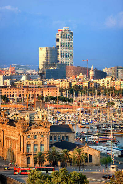 Harbor Photograph - Barcelona Skyline by Visions Of Our Land