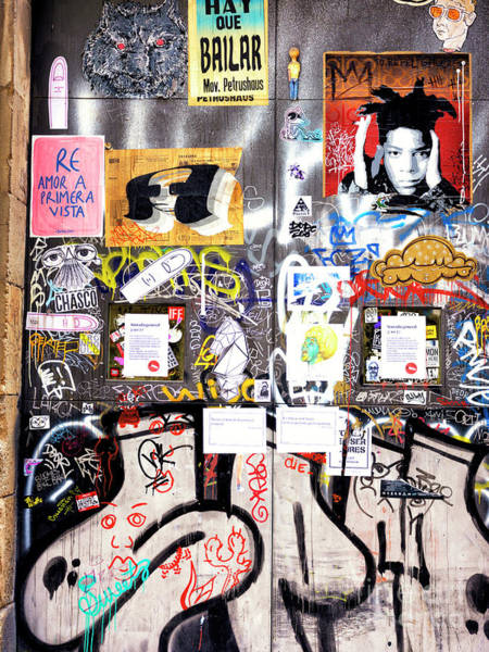 Photograph - Barcelona Street Art Door by John Rizzuto