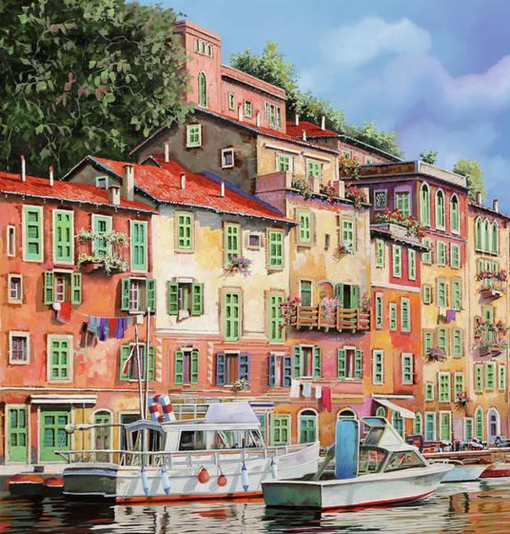 Painting - Barche Al Porto by Guido Borelli