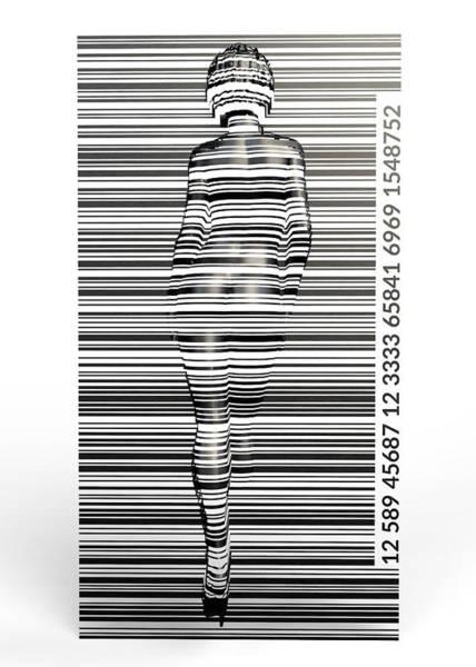 Barcode Digital Art - Barcode by Aivaras Grauzinis