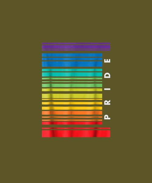 Barcode Digital Art - Barcode Gay Pride Lgbt T Shirt Lesbian Bisexual Flag Gifts by Unique Tees