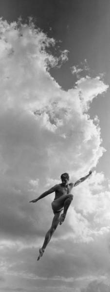 Photograph - Bare Chested Man Leaping In Air Digital by Bob Thomas