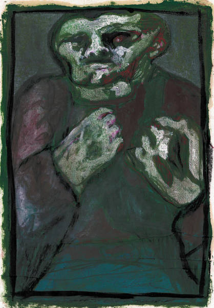 Painting - Bare Knuckle Boxer 3 by Artist Dot
