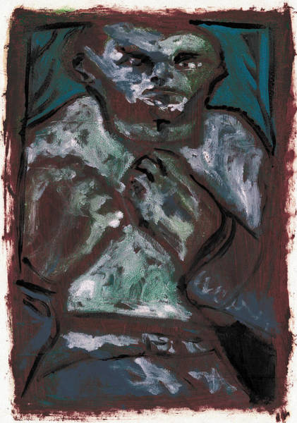 Painting - Bare Knuckle Boxer 5 by Artist Dot