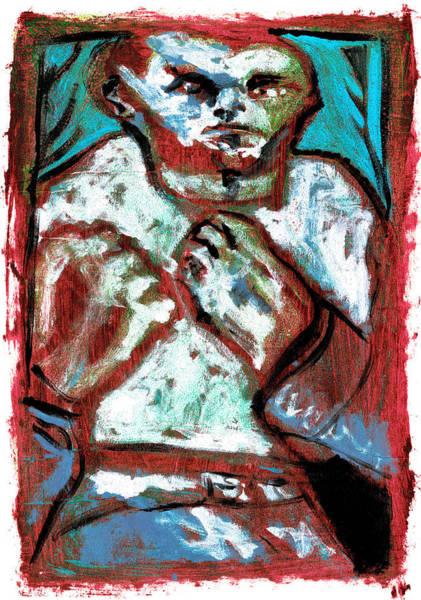 Digital Art - Bare Knuckle Boxer Blue Forest by Artist Dot