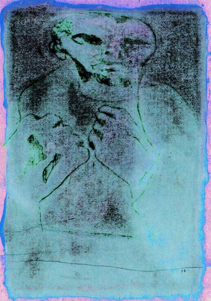 Digital Art - Bare Knuckle Boxer Blue Stain by Artist Dot