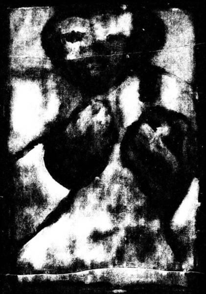 Digital Art - Bare Knuckle Boxer Digital Monochrome by Artist Dot