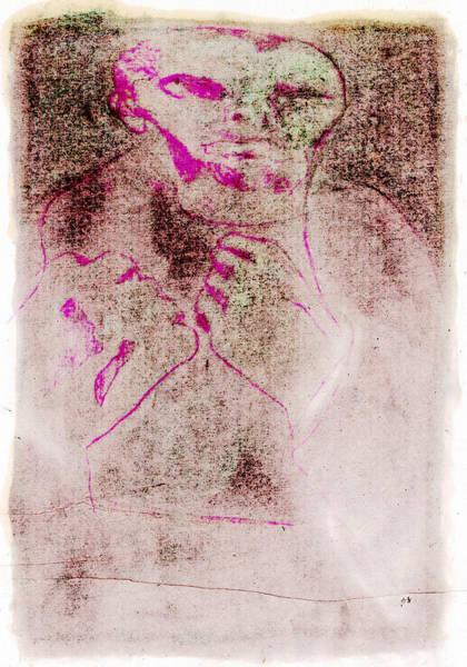Digital Art - Bare Knuckle Boxer Digital Pink Face by Artist Dot
