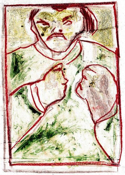 Digital Art - Bare Knuckle Boxer Digital Red Line by Artist Dot