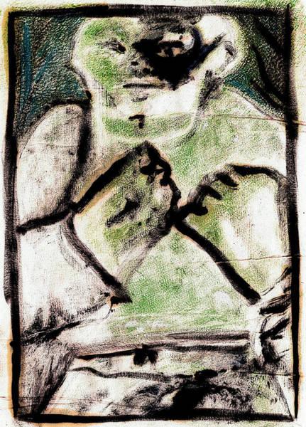 Digital Art - Bare Knuckle Boxer Green Night by Artist Dot