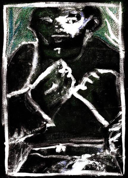 Digital Art - Bare Knuckle Boxer White Eye by Artist Dot