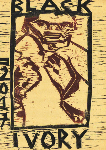Relief - Bare Knuckle Fighter Black Ivory Woodcut 27  by Artist Dot