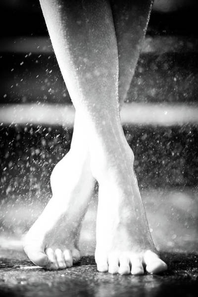 Practice Photograph - Barefoot Dancer Practicing Ballet In by Olivia Bell Photography