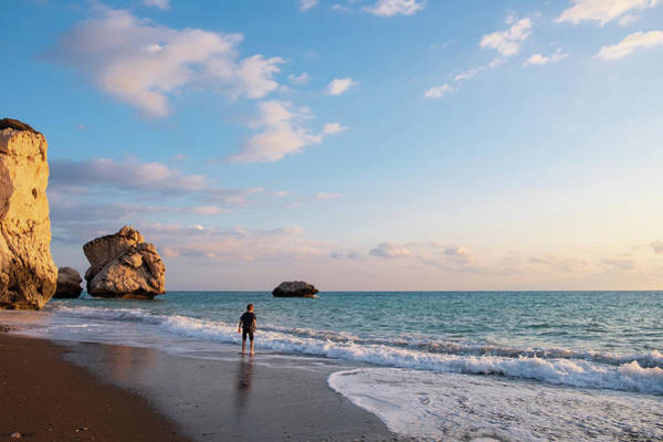 Stone Wall Art - Photograph - Barefooted Stroll At Aphrodite's Birthplace by Iordanis Pallikaras