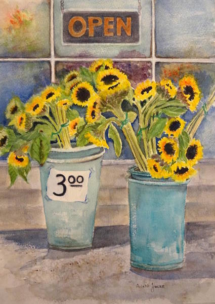Painting - Bargain Buckets by Anna Jacke
