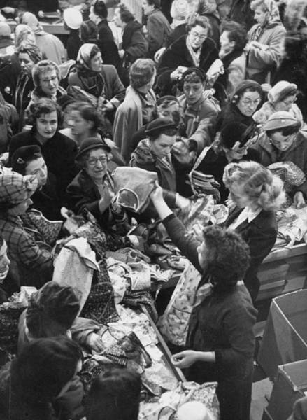 Merchandise Photograph - Bargain Hunters Shopping At Ohrbachs St by Yale Joel