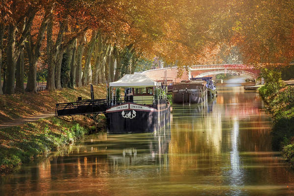 Wall Art - Photograph - Barges On Canal De Brienne Toulouse France  by Carol Japp