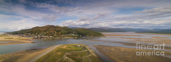 Photograph - Barmouth And The Mawddach Estuary Aerial Panorama by Keith Morris