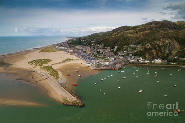Photograph - Barmouth Wales From The Air by Keith Morris