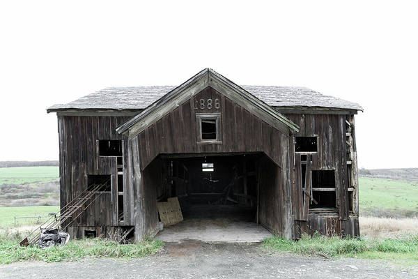 Photograph - Barn 1886, Old Barn In Walton, Ny by Gary Heller