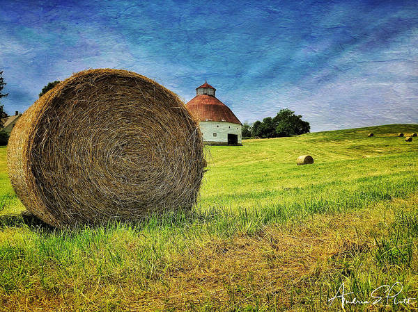 Photograph - Barn And Bales All Around by Andrea Platt