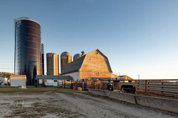 Photograph - Barn And Silos by Jim Thompson