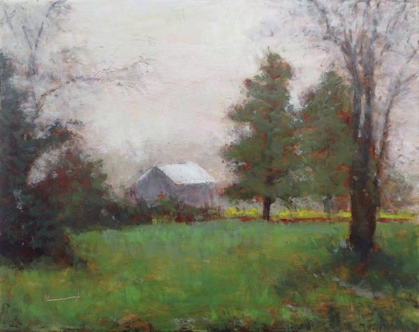 Kavanaugh Painting - Barn At Dusk by Keith Kavanaugh