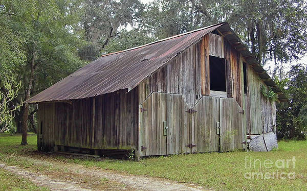 Photograph - Barn By The Dirt Road by D Hackett