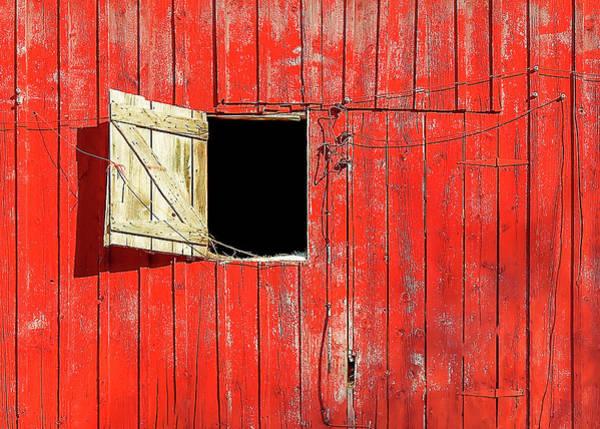 Photograph - Barn Door Open by Todd Klassy