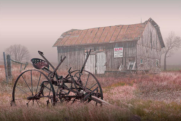 Wall Art - Photograph - Barn For Sale In The Fog by Randall Nyhof