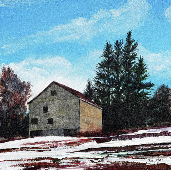 Painting - Barn Harlow, Ma by Paul Gaj