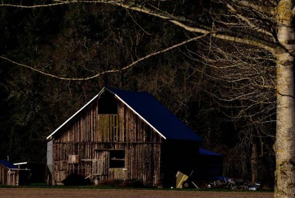 Photograph - Barn Highlight by Jerry Sodorff