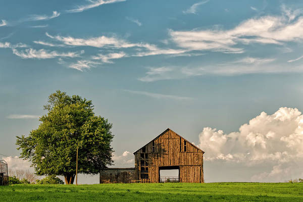 Wall Art - Photograph - Barn In Afternoon Light, Kentucky by Adam Jones