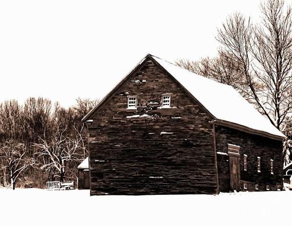 Photograph - Barn In Winter by Marcia Lee Jones