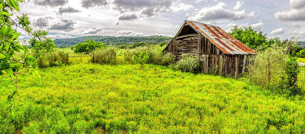 Photograph - Barn On Click Gap Rd Panorama Hdr by Greg Reed