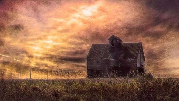 Photograph - Barn On Hill by Jack Wilson