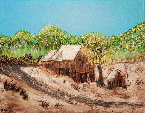 Painting - Barn On The Hill by Randy Sylvia