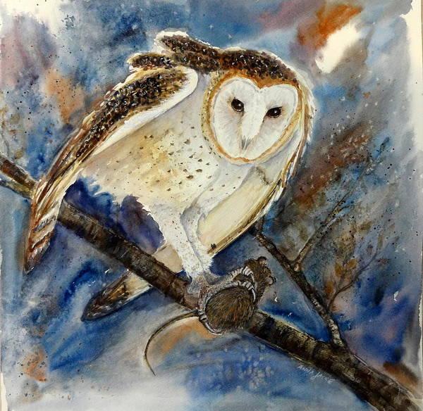 Painting - Barn Owl by Anna Jacke