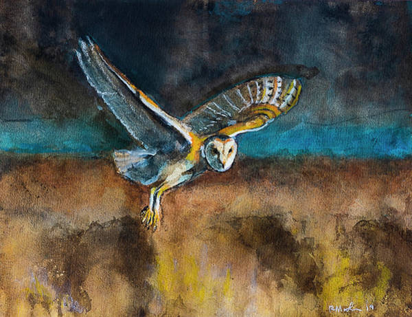 Painting - Barn Owl  by Rick Mosher