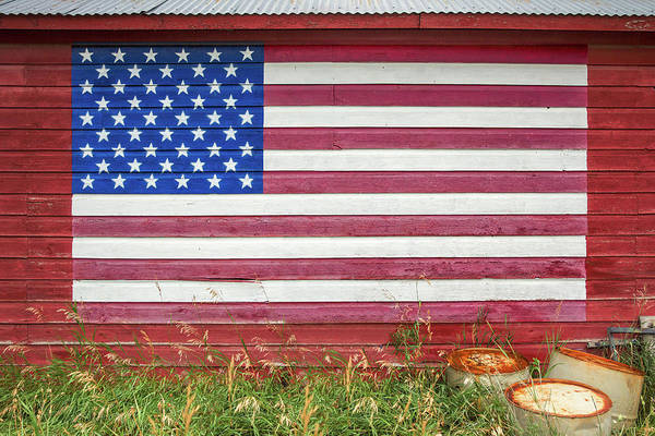 Wall Art - Photograph - Barn Side Flag by Todd Klassy